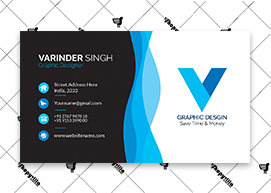 Black Skyblue Business Card
